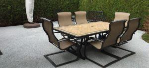 Pavimentos de caucho: patio, porche o terraza