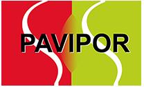 Logo Pavimentos Pavipor, instalacion de pavimentos deportivos, industriales, parkings, slurrys...